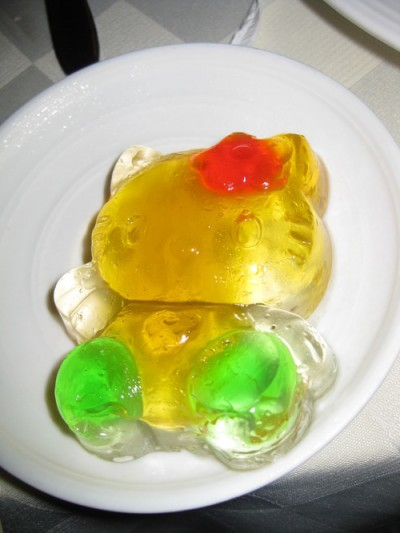 Hello Kitty rainbow jello