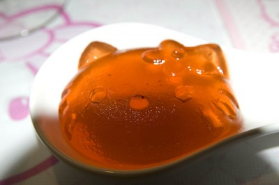 Hello Kitty orange jello gelatin