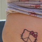 hello kitty peace tattoo
