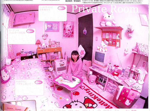 hello kitty girls room. What Hello Kitty fanatic believes is a beautiful room decor — really nothing