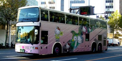 Hello Kitty tour bus