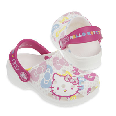 Hello Kitty crocs white