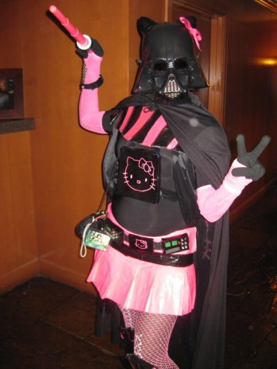 Hello Kitty pink skirt Darth Vader