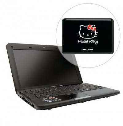 hello kitty netbook black