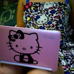 hello kitty pink laptop