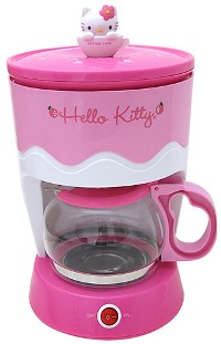 Hello Kitty pink coffee maker