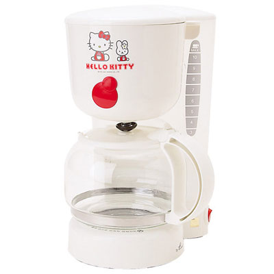 Hello Kitty coffee maker in white