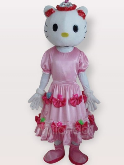Hello Kitty pink dress mascot