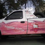 hello kitty pickup truck