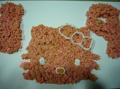 Hello Kitty Rice Krispie Treats
