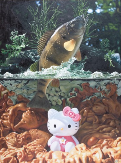 Hello Kitty river painting