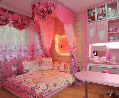 Hello Kitty pink room