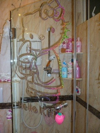 Hello Kitty shower door