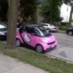 hello kitty smart car pink