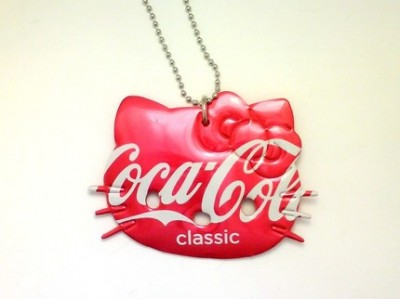 Hello Kitty Coca Cola necklace