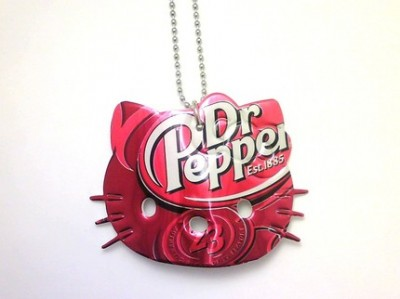 Hello Kitty Dr Pepper necklace