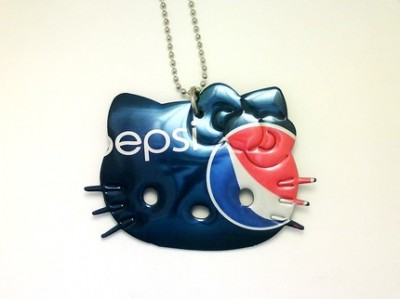 Hello Kitty Pepsi necklace