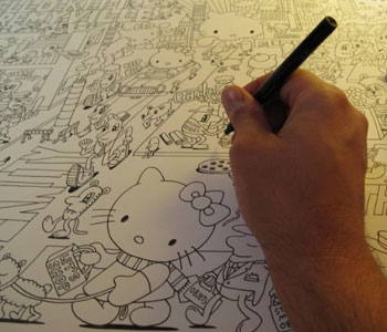 Hello Kitty Jeremyville art
