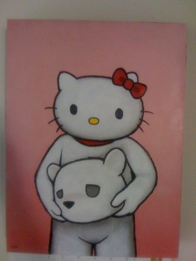 Hello Kitty Luke Chueh art