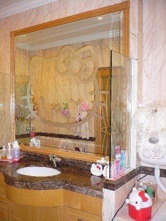 Hello Kitty bathroom mirror