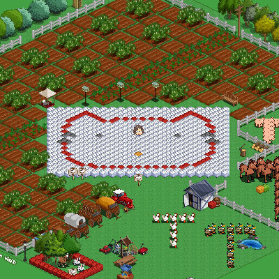 Hello Kitty face in Farmville
