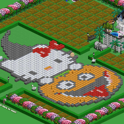 Hello Kitty Farmville pumpkin