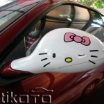 hello kitty ferrari mirror