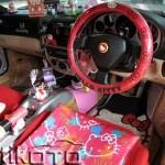 hello kitty ferrari steering wheel