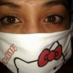 hello kitty flu face mask