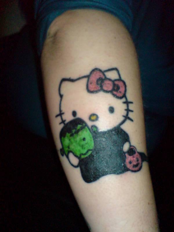 Hello Kitty Halloween tattoo  Evil Hello Kitty Tattoo