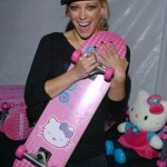 hello kitty hilary duff skateboard
