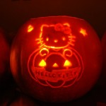 hello kitty pumpkin jack-o-latern