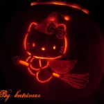 hello kitty pumpkin witch