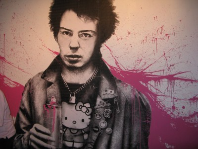 Hello Kitty Sid Vicious Sex Pistols Mural