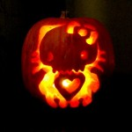 hello kitty skeleton pumpkin
