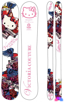 Hello Kitty snowboard Victoria Couture