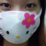 hello kitty swine flu mask