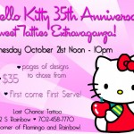 hello kitty tattoo promo