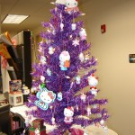 hello kitty Xmas tree purple