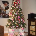 hello kitty christmas tree and decorations
