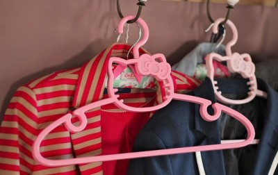 Hello Kitty coat hangers pink face
