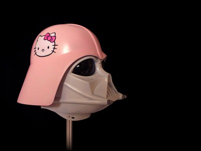 Hello Kitty Darth Vader helmet