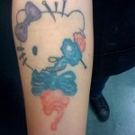 hello kitty dead tattoo