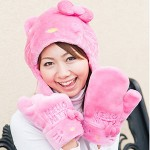 hello kitty hat and mittens