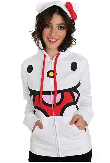 There could be no other possible explanation for the Hello Kitty hoodie…