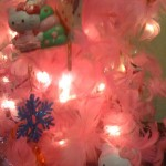 hello kitty pink feather boa xmas tree