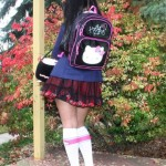 hello kitty schoolgirl costume back