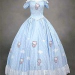 Hello Kitty wedding dress blue