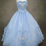 Hello Kitty wedding dress blue heart