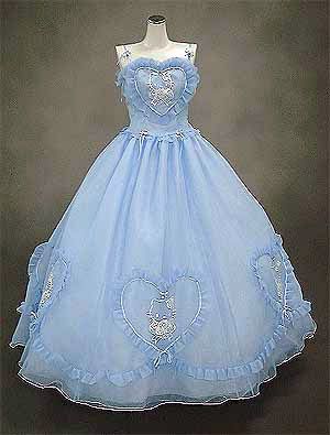 Blue Dress on Hello Kitty Wedding Dress Blue Heart